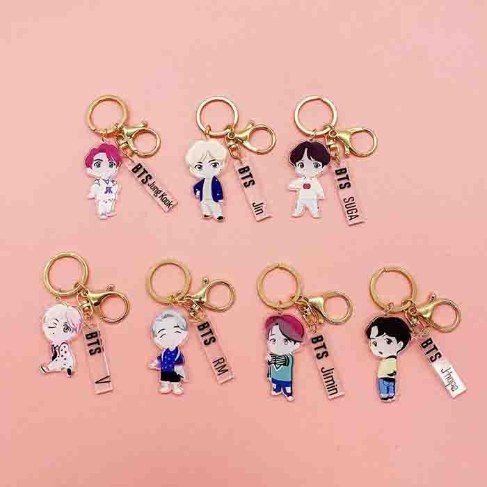 BTS Pop Up Cartoon Keychain