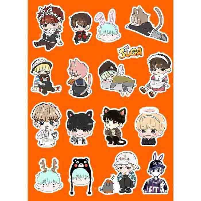 BTS Suga Cartoon Stickers