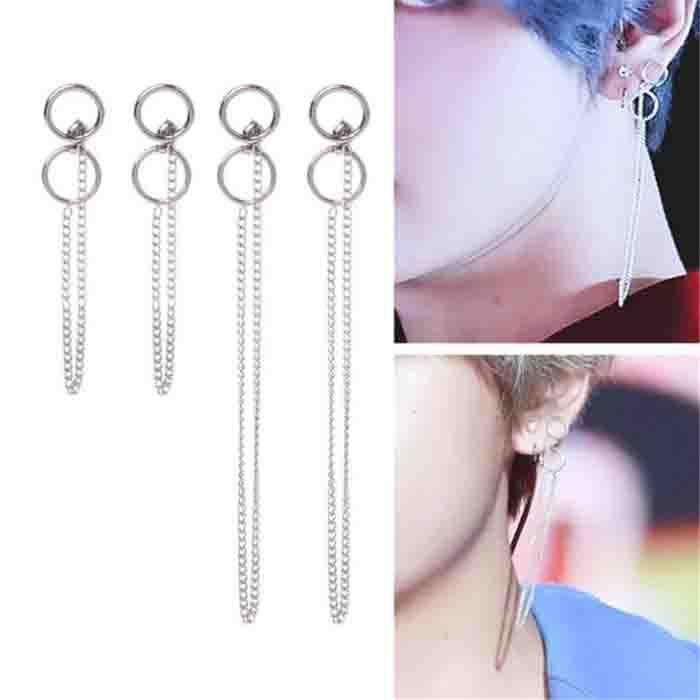 BTS Taehyung V DNA Tassel Earrings