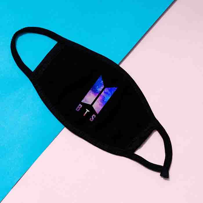 BTS Two-layer Cotton Stary Sky Mask