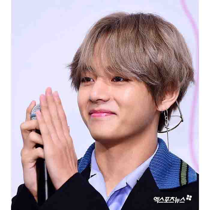 BTS V Fashion Circle Cross Earring