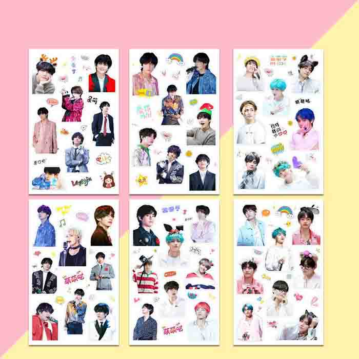 BTS V Hand Account Stickers