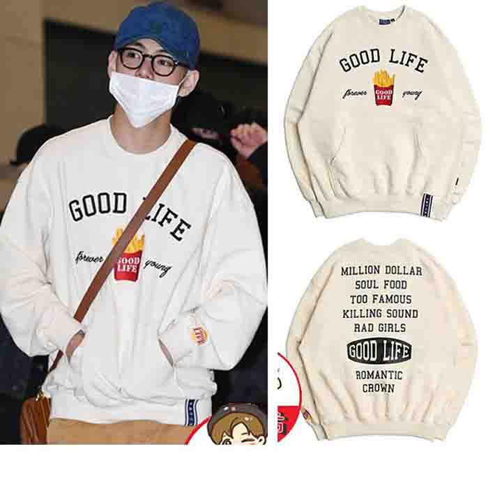 BTS V Printed Round Neck Sweater