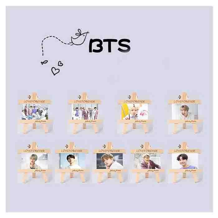 BTS Wooden Photo Frame