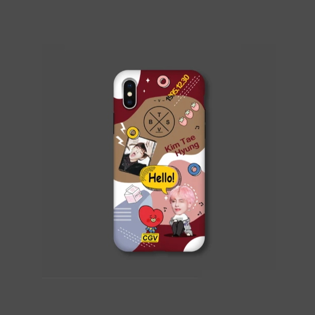 BTS X BT21 taehyung&TATA Phone Case