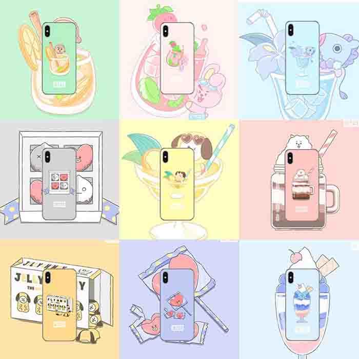 BTS X Cartoon Phone Case