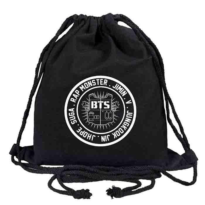 BTS X Drawstring bag