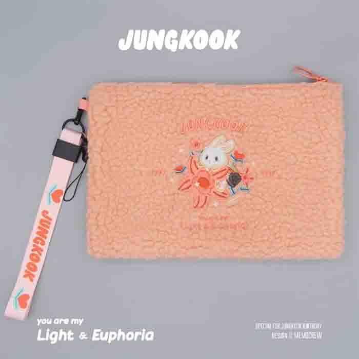 BTS X jungkook you are my light&euphoria clutch bag
