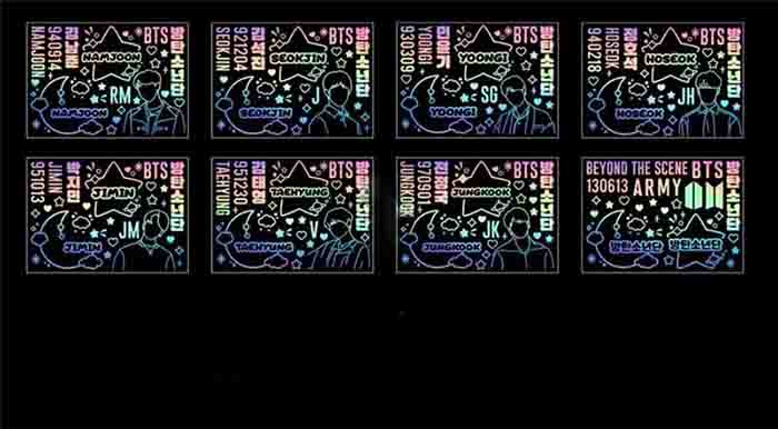 BTS X Laser stickers