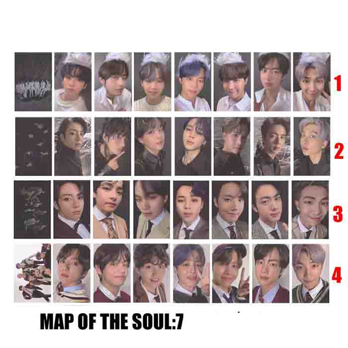 BTS X Map of the soul 7 lomo card
