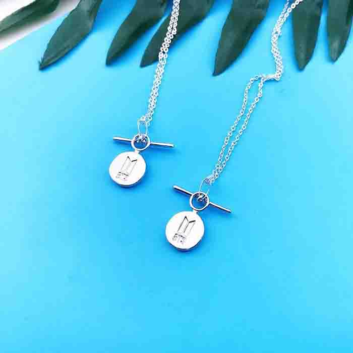 BTS X silver-plated necklace