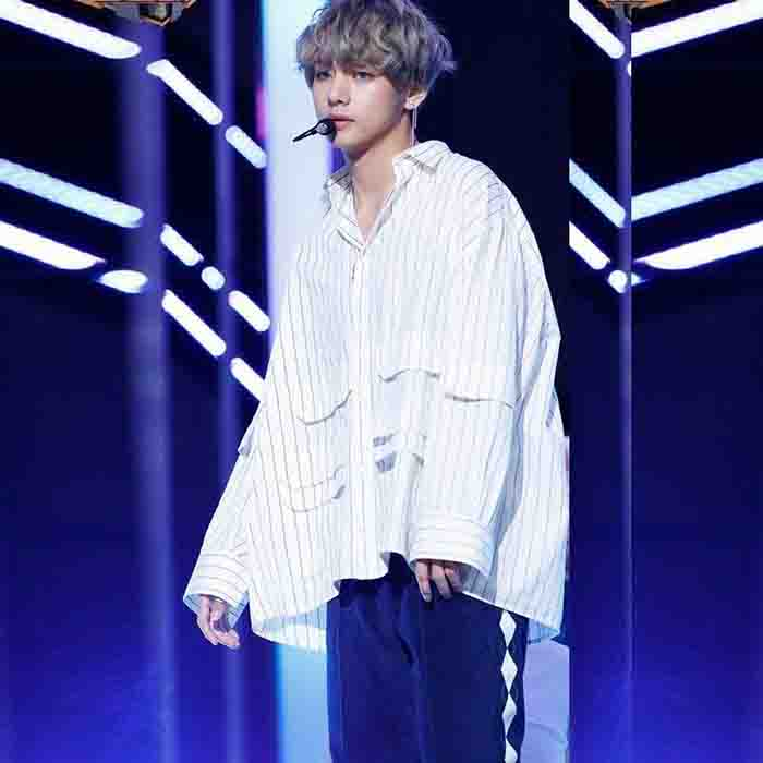 BTS X TAEHYUNG stripe shirt
