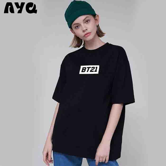 BTS X BT21 Short Sleeve T-shirt